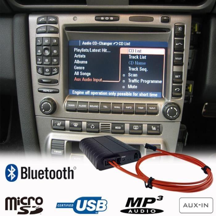 KIT POUR VOITURE Mains Libres Bluetooth A2DP USB SD AUX Adaptateur
