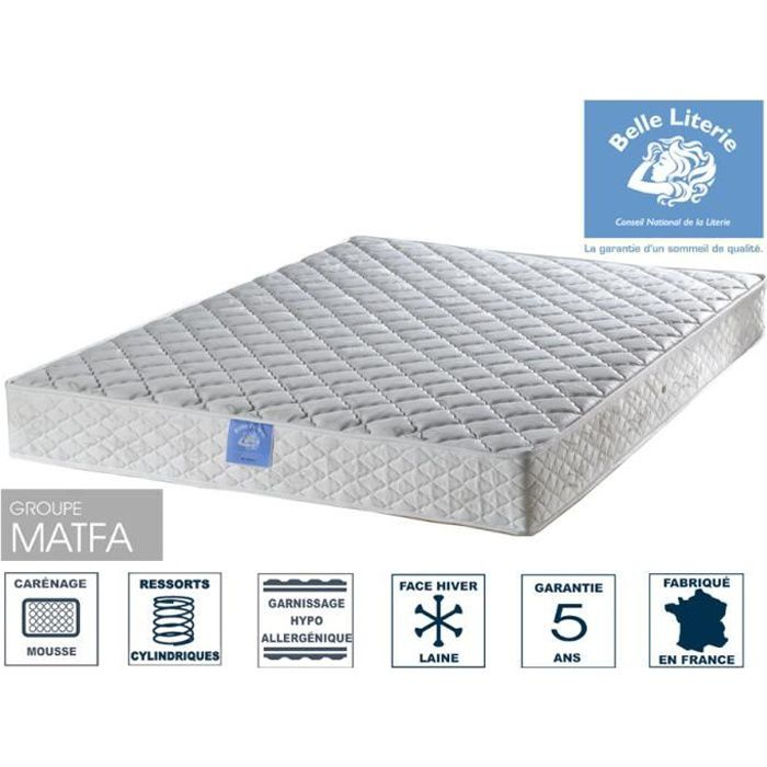 matelas rubis 20cm belle literie par ameline 120x190. Black Bedroom Furniture Sets. Home Design Ideas