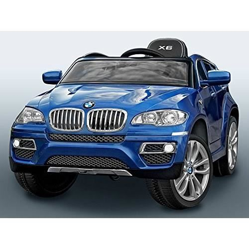 bmw x6 bleu m tal voiture lectrique enfant 12v achat. Black Bedroom Furniture Sets. Home Design Ideas