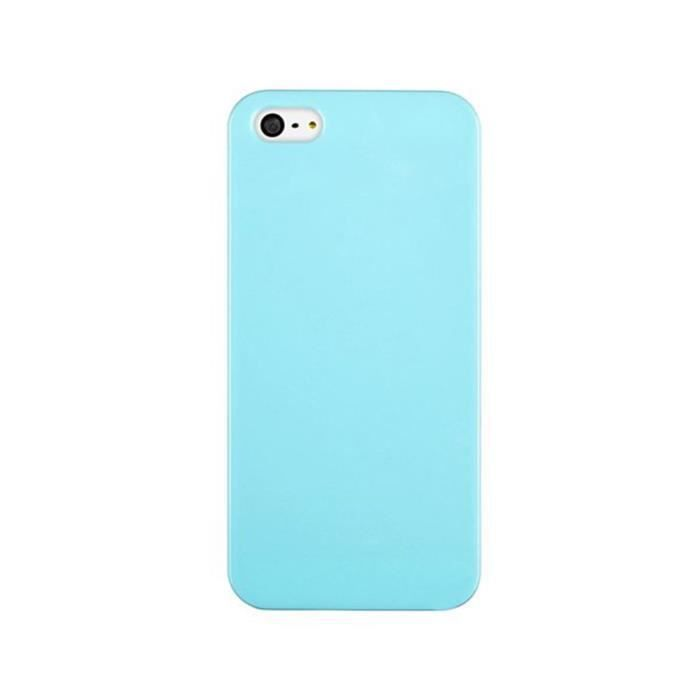 Etui housse coque pastel iphone 5 c film bleu achat for Housse iphone 5 c