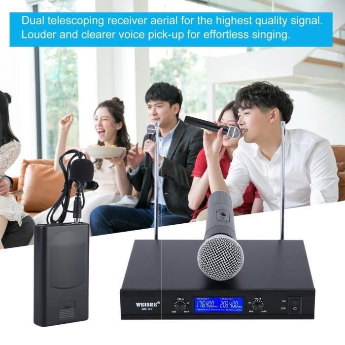 HAUT-PARLEUR - MICRO Système De Microphone Vhf 2Ch - Microphone À Main