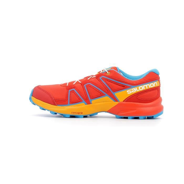 best wholesaler order online los angeles Chaussures de trail enfant Salomon Speedcross Junior coloris Fiery ...