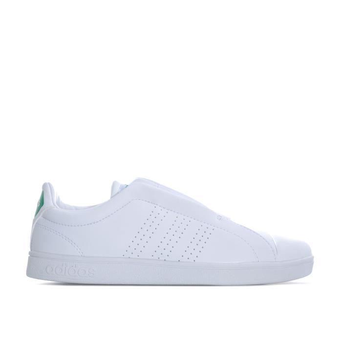 basket adidas blanche et verte femme