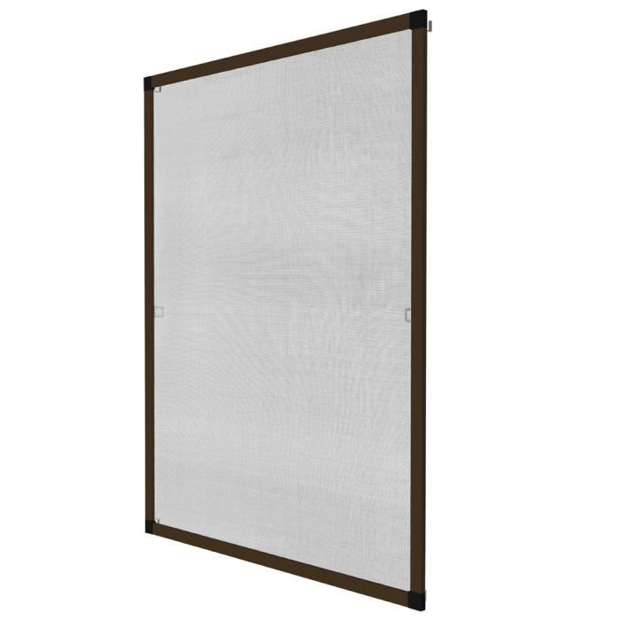 Moustiquaire fen tre ajustable 120x140cm aluminium achat for Decoration fenetre aluminium