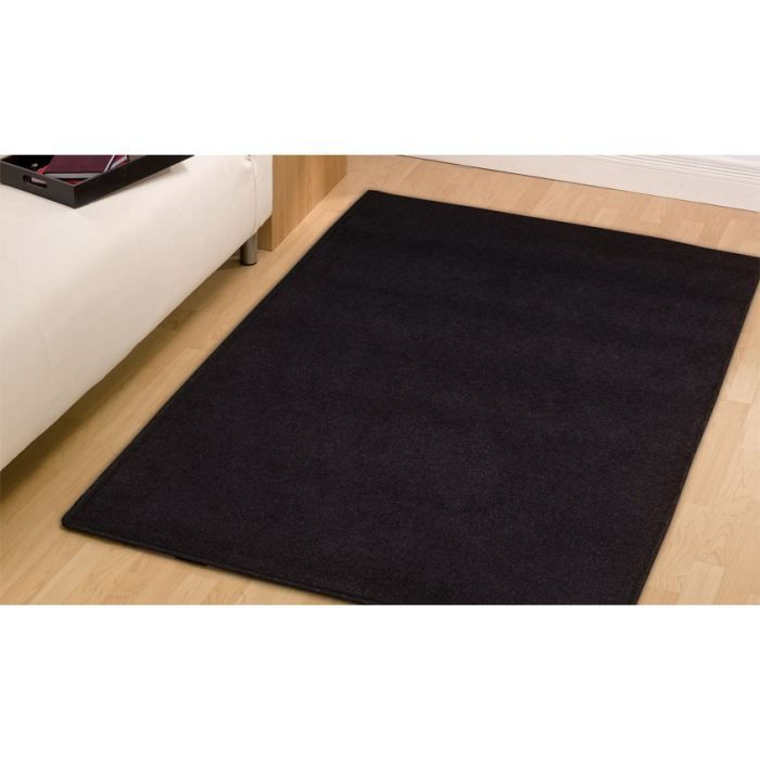 ad nero 45 tapis shaggy cm 200 rond achat vente tapis cdiscount. Black Bedroom Furniture Sets. Home Design Ideas