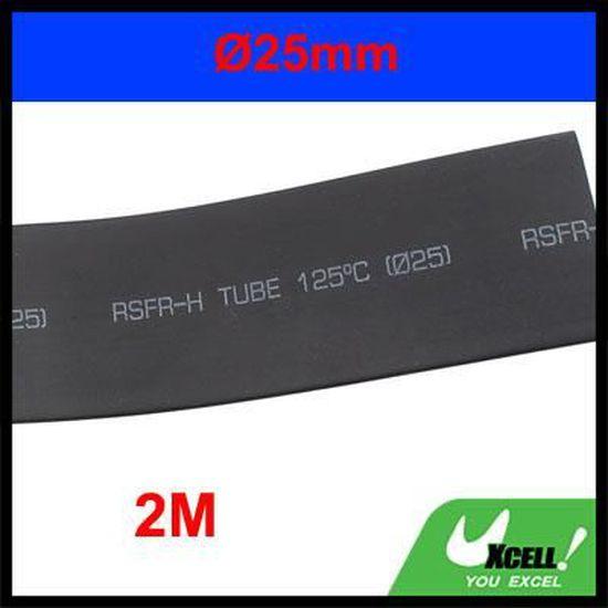 sourcingmap Diam/ètre 12 mm 2,4 m/ètres longueur tube thermor/étractable tube thermor/étractable noir Fil de Ratio 2:1