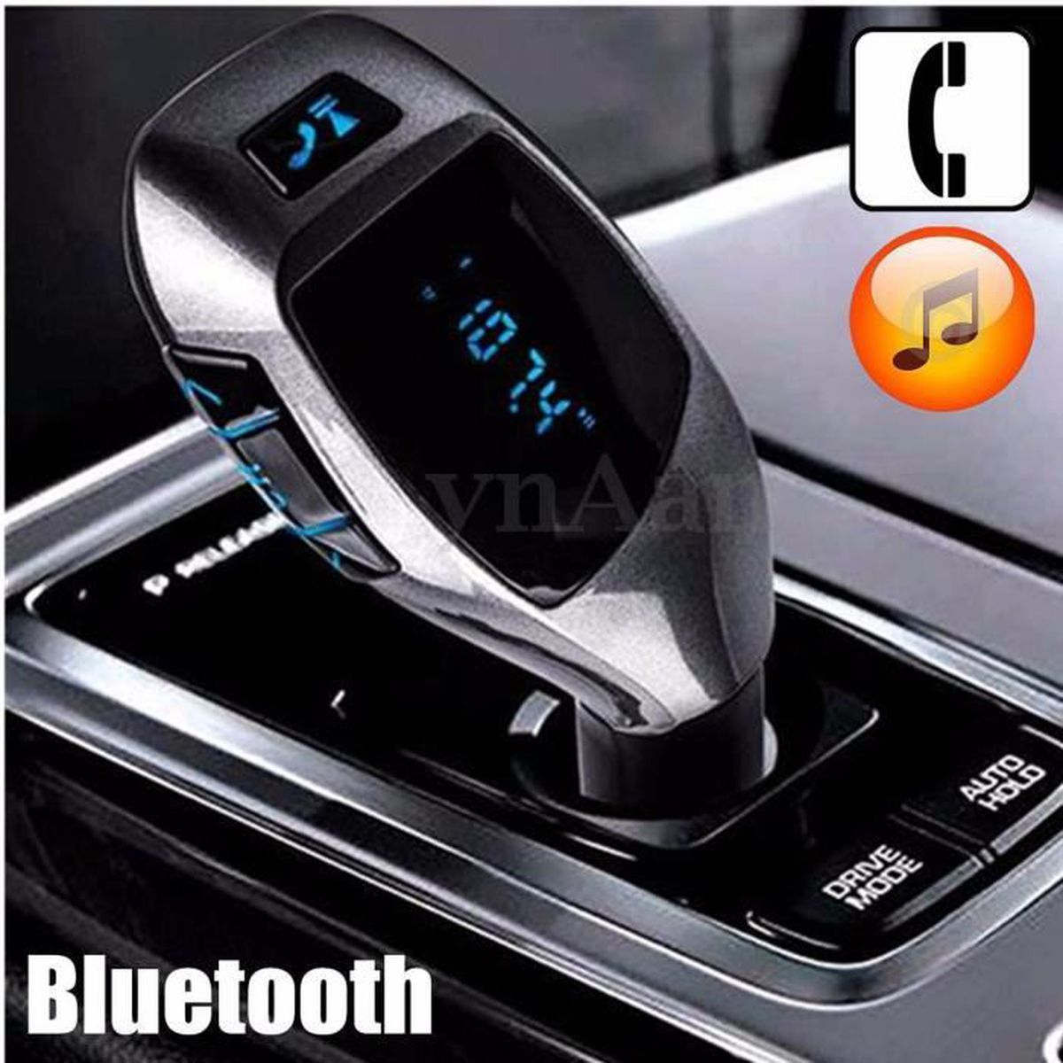 transmetteur fm bluetooth mains libres voiture chargeur smartphone kaeesi achat vente kit. Black Bedroom Furniture Sets. Home Design Ideas