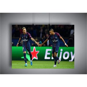 AFFICHE - POSTER Poster Neymar Mbappe Duo PSG Star Football A3 ( 42