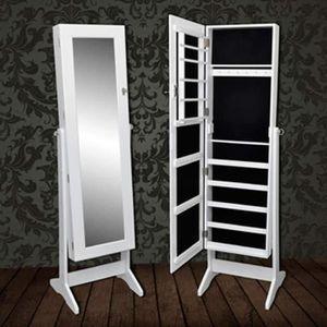 ARMOIRE A BIJOUX Miroir Psyché&Multi Fonction : Design Classique Ch