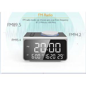 Radio réveil Radio Réveil ,Chargeur USB, 5 niveaux de luminosit