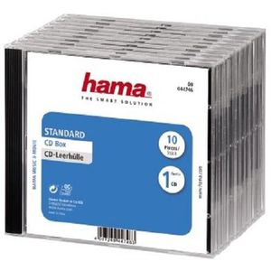 RANGEMENT CD-DVD HAMA 44746 Boîtier CD standard - Lot de 10 - Trans