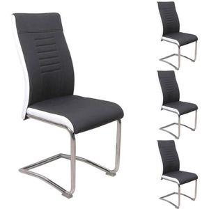 CHAISE Lot de 4 chaises de salle à manger ou cuisine ALBA