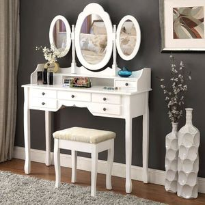 coiffeuse achat vente coiffeuse pas cher cdiscount. Black Bedroom Furniture Sets. Home Design Ideas