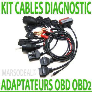 OUTIL DE DIAGNOSTIC MARSODEAL® KIT ADAPTATEUR CONNECTEUR 8 CABLES AUTO