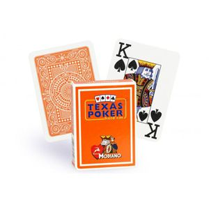 CARTES DE JEU Cartes Texas Poker 100% plastique (orange)
