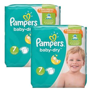 COUCHE 60 Couches Pampers Baby Dry taille 7
