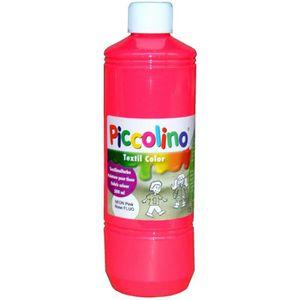 PEINTURE POUR TEXTILE Encre, Peinture textile fluo, Rose 500 ml - Piccol