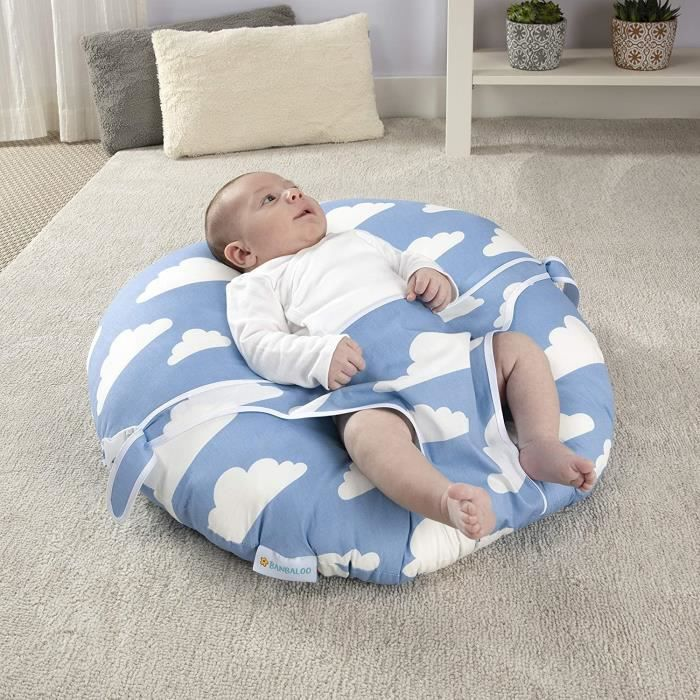 Transat NouveaunéNid bébéReducteur de lit, Canapé Bébés-Chaise Coussin BébésSiege transportable pour Enfants Nouveaunés. Cadeau po