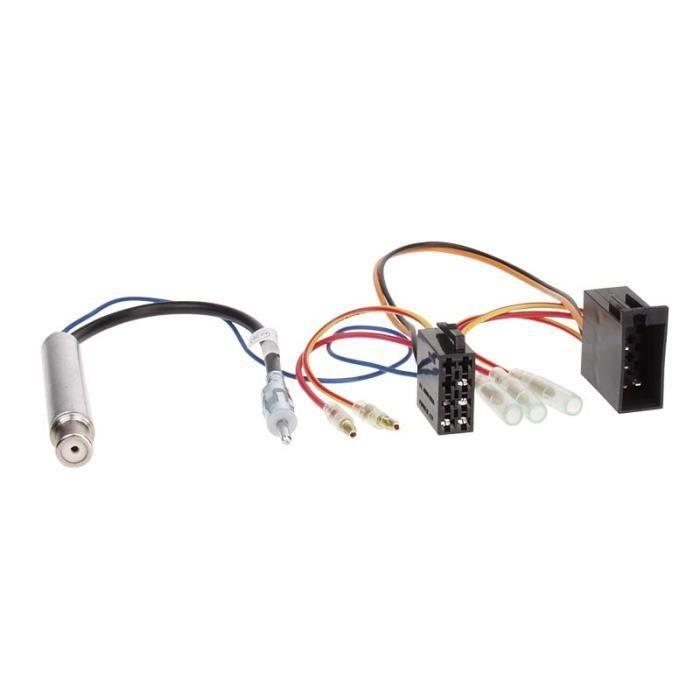 Faisceau autoradio avec amplificateur d'antenne phantom DIN AUDI/ VW/ SEAT/ SKODA