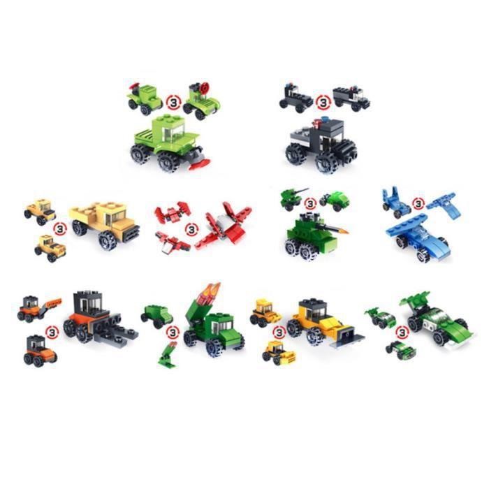 Blocs de construction 10pcs mini assemblage jouets modèle kit enfants militaire À la main jouets Éducatifs
