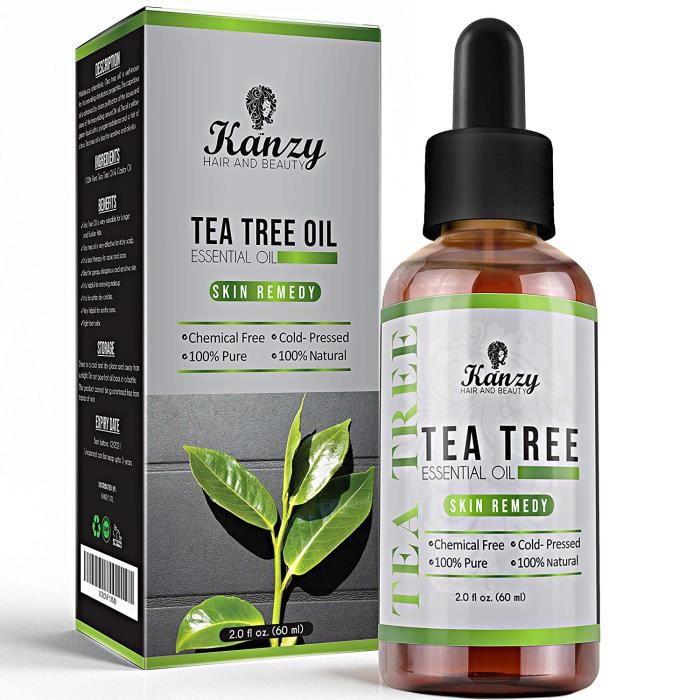 Huile Essentielle d'Arbre à Thé BIO - Tea Tree Essential Oil - menthe poivrée - 100% Pure - KANZY - 60ml