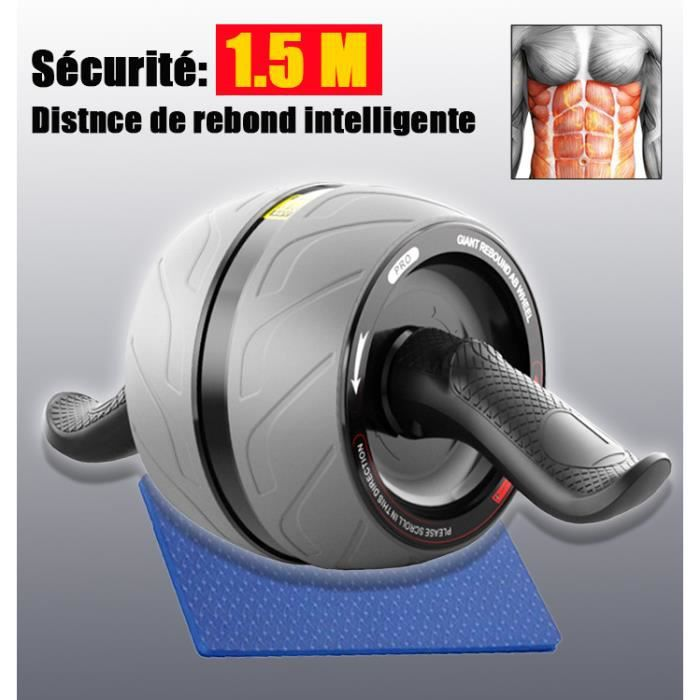 Roller Abdominaux, Roulette Abdos, AB Roller,Abdominale Musculation pour Exercice Fitness Exercices 8 Pack Abs