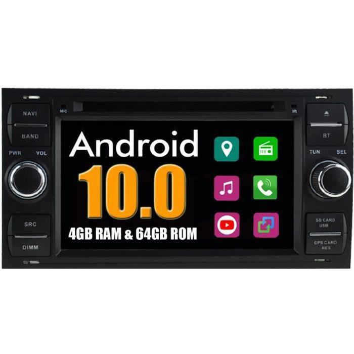 Autoradio Bluetooth GPS Navigation pour Ford Transit Fiesta Galaxy Fusion C-MAX S-MAX Kuga Connect Focus Mondeo / Noir