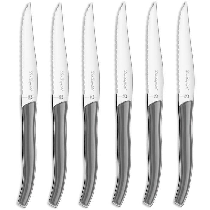 LOU LAGUIOLE - 827746 - Coffret 6 couteaux steak - Star Gris clair