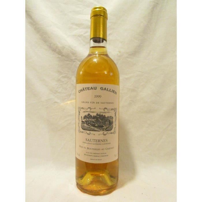 sauternes château gallien liquoreux 1999 - bordeaux france