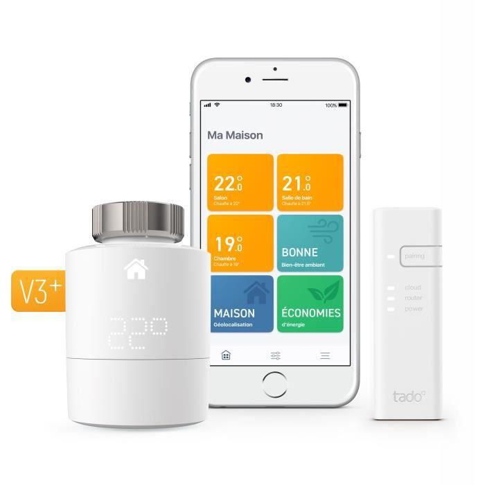 tado° - Tête Thermostatique Intelligente - kit de démarrage V3+
