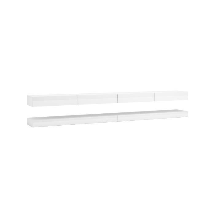 3xeLiving Meuble TV innovant et moderne Sajna 280cm blanc / blanc brillant