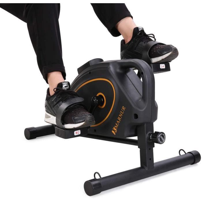 MARNUR Mini Vélo Appartement Pédale Pédalier Exercice Stationnaire Cycle Entraînement Magnétique à Maison Bureau Portable Entraîner