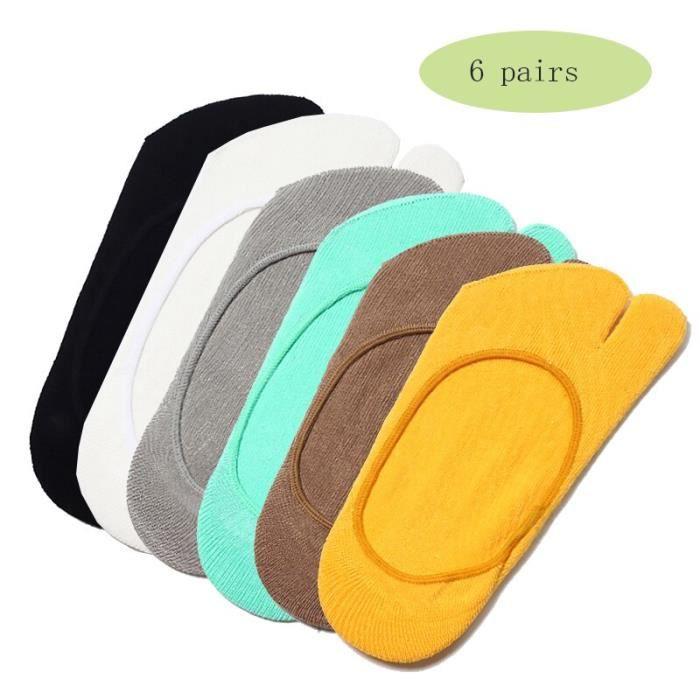 Accessoires Fitness - Musculation,Chaussettes de Yoga Tabi pour femmes 6 paires, chaussettes de sport, - Type mixed color-EU 35-40