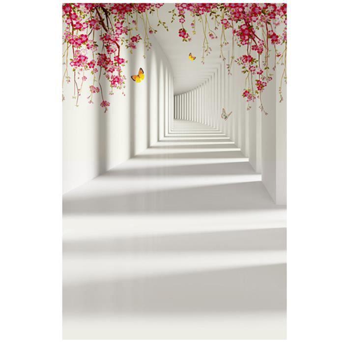 Photo Fond Tissu Photographie Mur Décoratif Fleur Papillon Toile de Accessoires pour Shop Studio Prendre Des FOND DE STUDIO