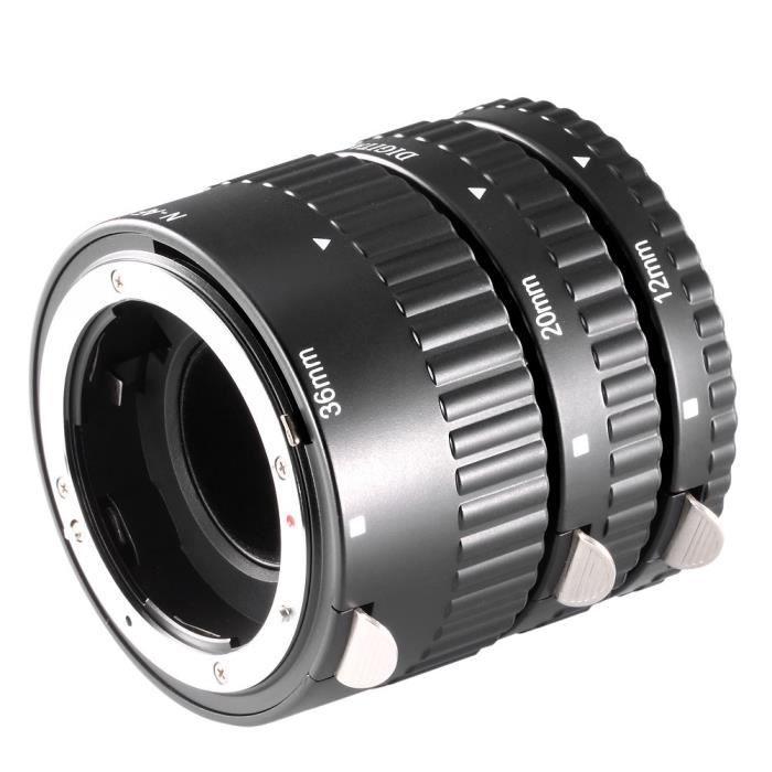 Tubes d'extension pour objectifs Neewer 3 pièces avec Tube D'Extension Macro pour reflex numérique Nikon AF-AF-S DX N190 31967