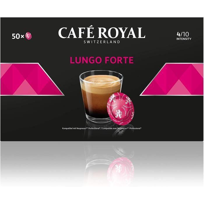 CAFE ROYAL PRO - 150 CAPSULES COMPATIBLES NESPRESSO PRO® - LUNGO FORTE - 3 Boites de 50 Capsules Compatibles Nespresso Pro®