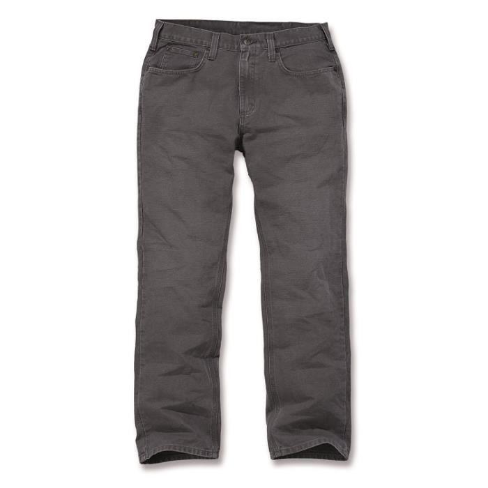 Pantalon toile 5 poches coupe droite gravier W40/L32 CARHARTT S1100096039T4032 40 x 32 Gravier
