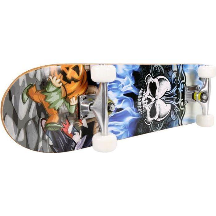 Skateboard PRO Print bois + PU roues Deck complet