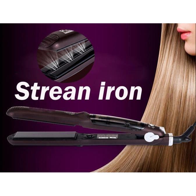 Fer à lisser cheveux fer plat professionnel Steampod fer à lisser vapeur