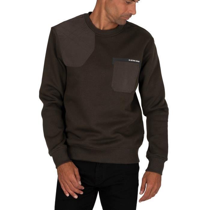 G-Star Sweatshirt Hunting Patch, vert, Homme
