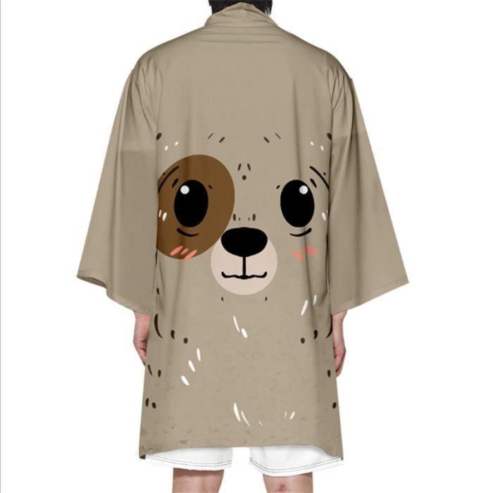 CARDIGAN Mixte - Nouveau Mode long Impression d'animal Cardigan - beige Fa™