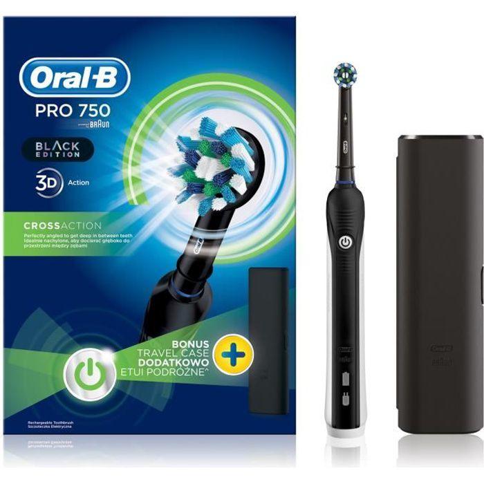 Brosse à dents électrique Oral-B Pro 750 CrossAction Black Edition