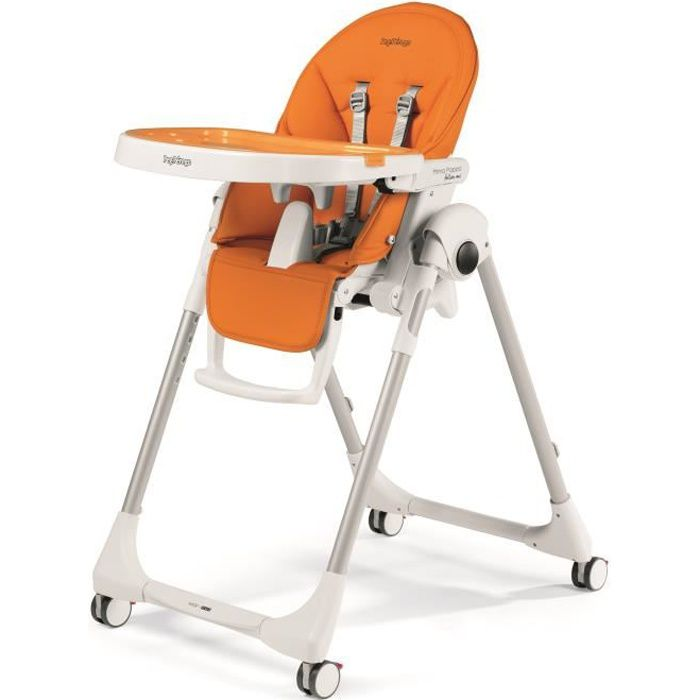 PEG PEREGO Chaise Haute Zero3 - Coloris Orange Uni