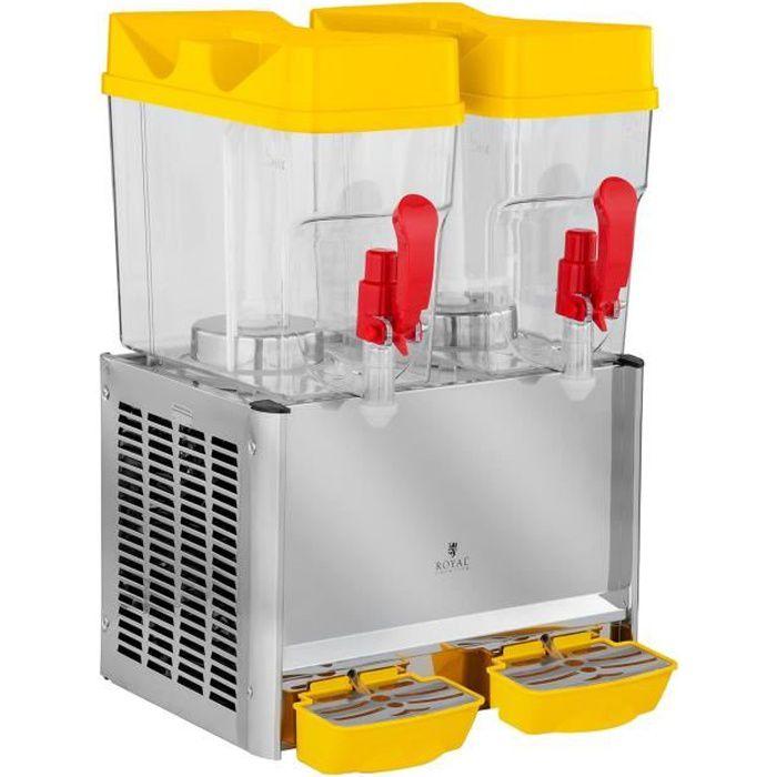 Distributeur de jus Boissons Robinet Royal Catering (2x18L 280W plage de température 7-12dc Cycle de fonctionnement 8-12h)