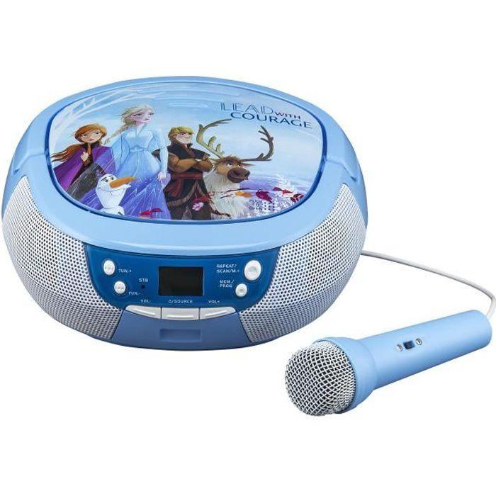 LA REINE DES NEIGES 2 Lecteur CD Boombox avec Micro