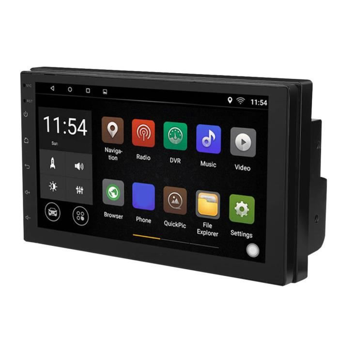 VINGVO Voiture multimédia WiFi Double DIN 7 'WIFI Double 2 Din autoradio stéréo multimédia lecteur Bluetooth antenne GPS 1 + 16G