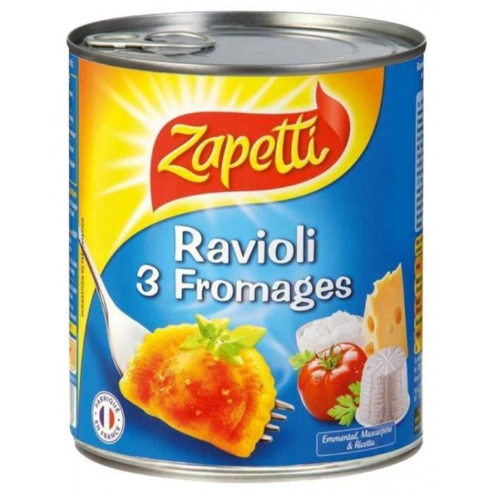 Zapetti Ravioli Aux 3 Fromages 800g (lot de 6)