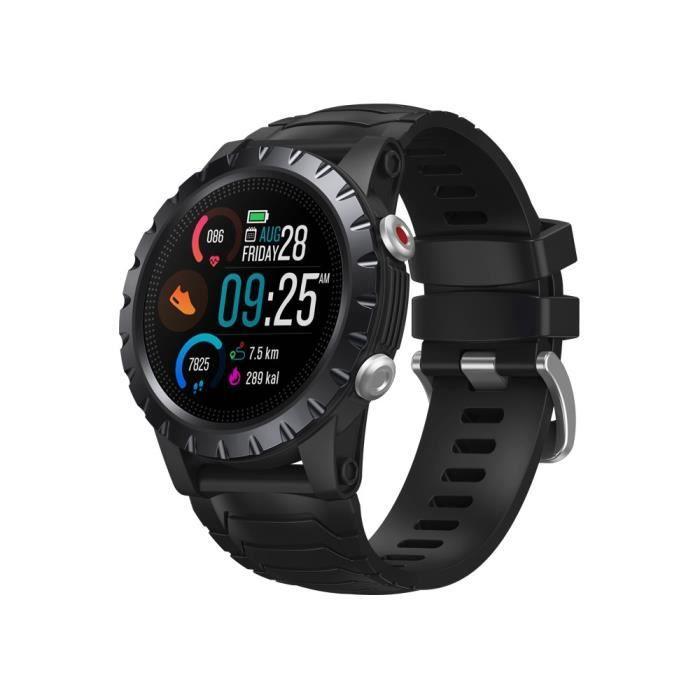 Montre ZEBLAZE STRATOS Montre Intelligente Écran Tactile 50m Étanche Surveillance De Santé Suivi De L'activité GPS Smartwatch, Noir