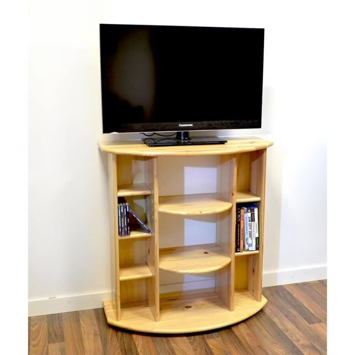 meuble tv hifi bois miel achat vente meuble tv. Black Bedroom Furniture Sets. Home Design Ideas