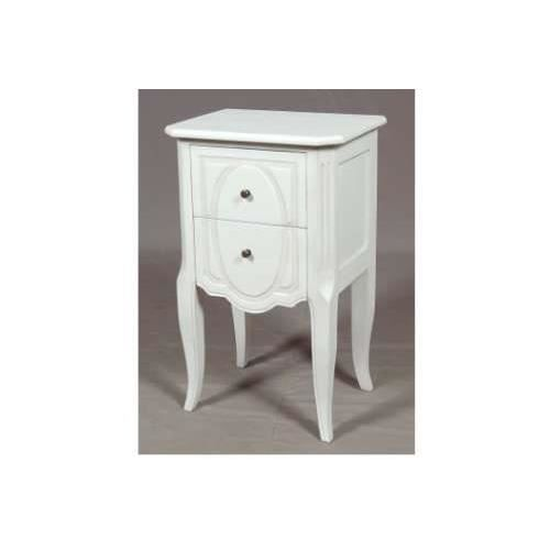 Table de chevet blanche amadeus achat vente chevet table de chevet blanch - Table de chevet blanche ...